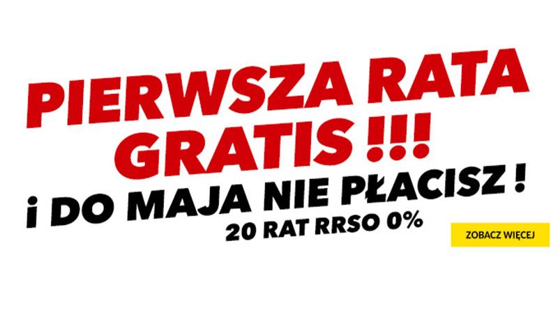 Pierwsza rata GRATIS w RTV euro AGD