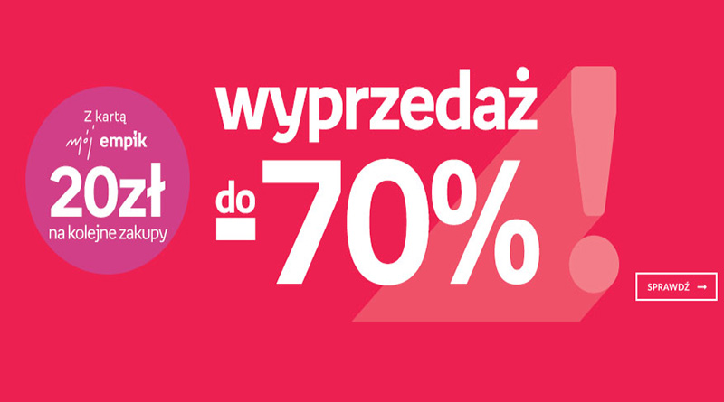 Wyprzedaż do -70% na Empik.com