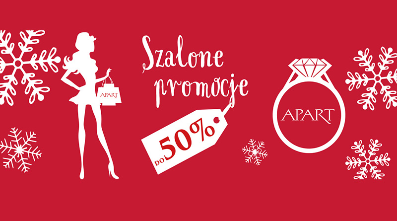 Szalone promocje do 50% w sklepie Apart
