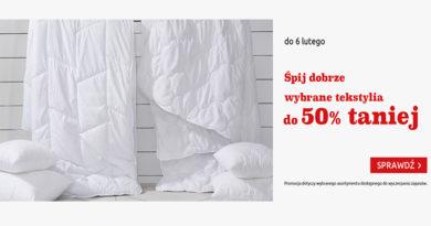 Wybrane tekstylia do 50% taniej w Black Red White