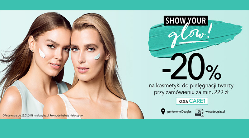 Rabat 20% na kosmetyki do twarzy w Douglas