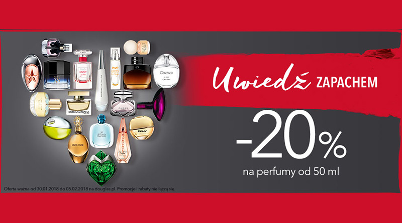 Rabat 20% na perfumy w Douglas