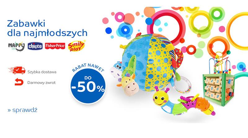 Zabawki dla najmłodszych do 50% taniej na eMag.pl