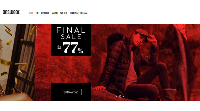 Final Sale do -77% na Answear.com