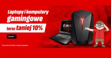 Laptopy i komputery taniej o 10% w Media Markt