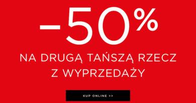 Rabat 50% na drugą rzecz z wyprzedaży w Mohito