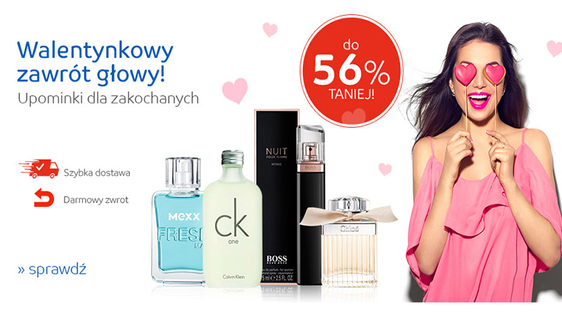 Walentynkowe upominki do 56% taniej na eMag.pl