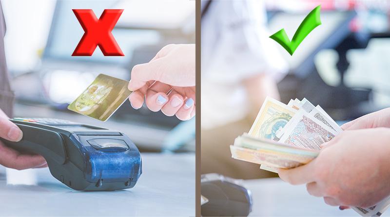Płać gotówką a nie kartą i oszczedzaj