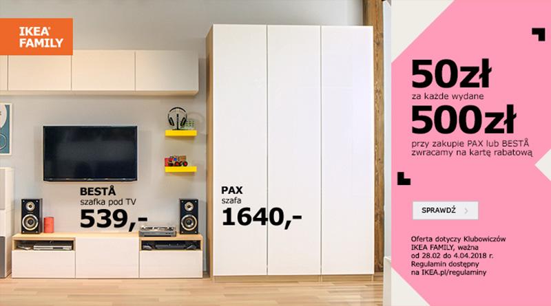 Wydaj 500 zł i odbierz 50 zł w sklepie Ikea