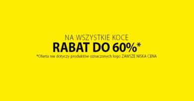 Rabaty do -60% na koce w sklepie Jysk