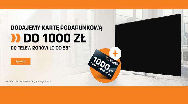 Kup Telewizor LG i odbierz do 1000 zł w sklepie Saturn