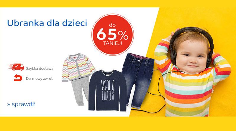 Ubranka dla dzieci do 65% taniej na eMag.pl