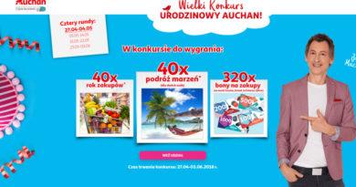 Konkurs Auchan: Wielki konkurs urodzinowy Auchan