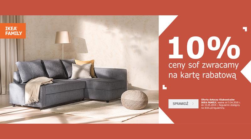 Ikea zwróci 10% ceny sofy na kartę rabatową
