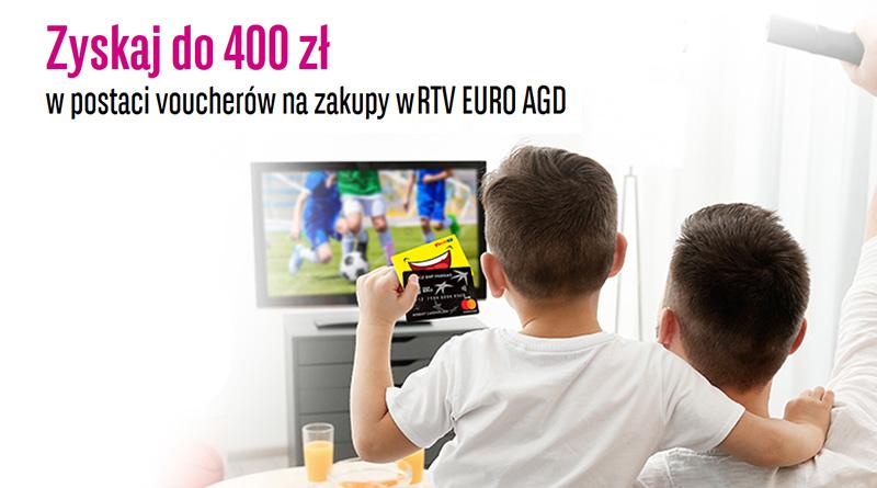 Zyskaj do 400 zł w RTV EURO AGD za założenie karty kredytowej BGŻ BNP Paribas