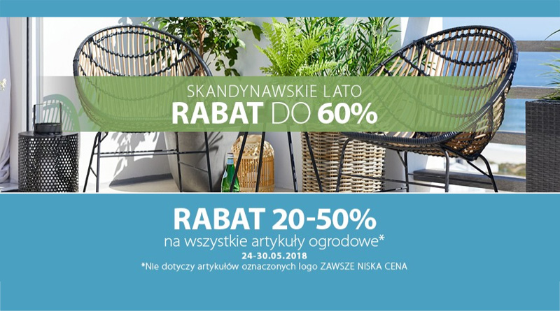 Rabaty do 60% w sklepie Jysk