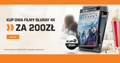 Kup 2 filmy Bluray 4K za 200 zł w sklepie Saturn