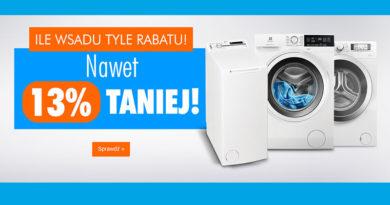 Kup pralkę w Electro nawet do 13% taniej
