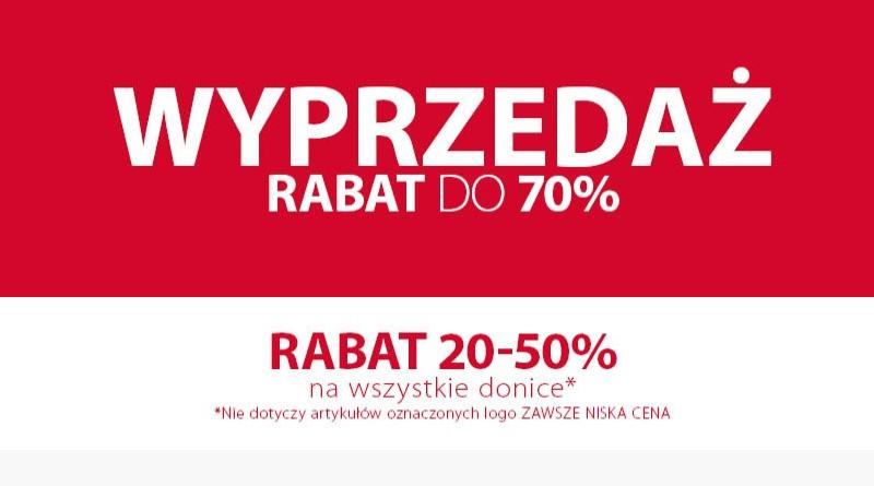 Wyprzedaż do -70% w sklepie Jysk