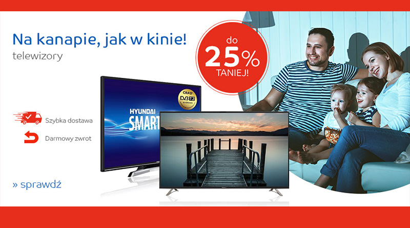 Telewizory na eMag.pl taniej do 25%
