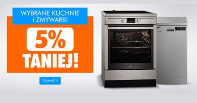 Wybrane kuchnie i zmywarki 5% taniej w Electro