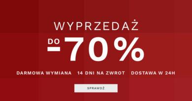 Wyprzedaż do -70% w sklepie Lancerto