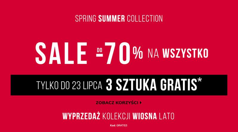 Sale do -70% na wszystko w sklepie Vistula