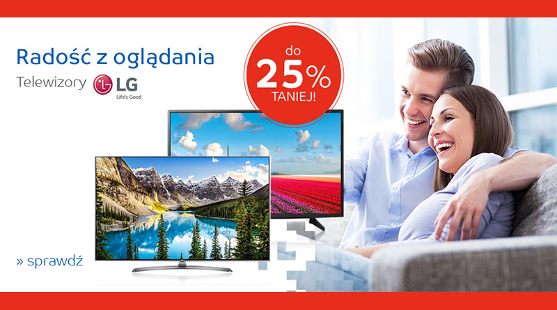 Telewizory LG do 25% taniej na eMag.pl