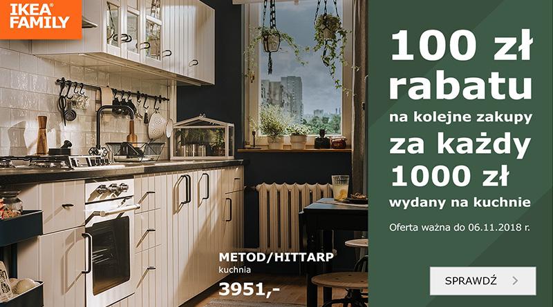 Odbierz 100 zł za każde wydane 1000 zł w sklepie Ikea