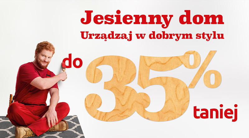 Jesienny dom w dobrym stylu do 35% taniej w Black Red White