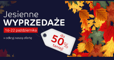 Jesienne wyprzedaże do 50% taniej na eMag.pl