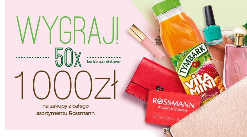 Konkurs Rossmann: 1000 na zakupy
