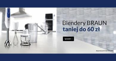 Blendery Braun taniej do 60 zł w Media Markt