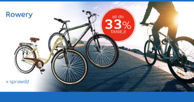 Rowery aż do 33% taniej na eMag.pl